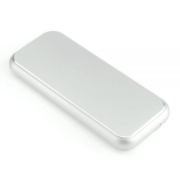 DiskMFR NVMe SSD enclosure silver color